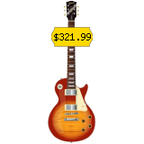 This electric guitar is perfect for novice musicians.