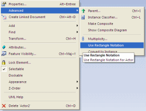 use rectangle notation - enterprise architect