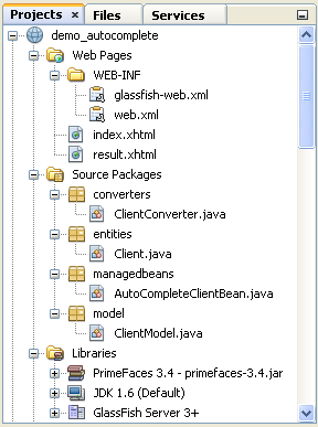 autocomplete netbeans project
